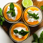Creamy Coconut Yogurt Overnight Oats with Sunny Mango Sauce