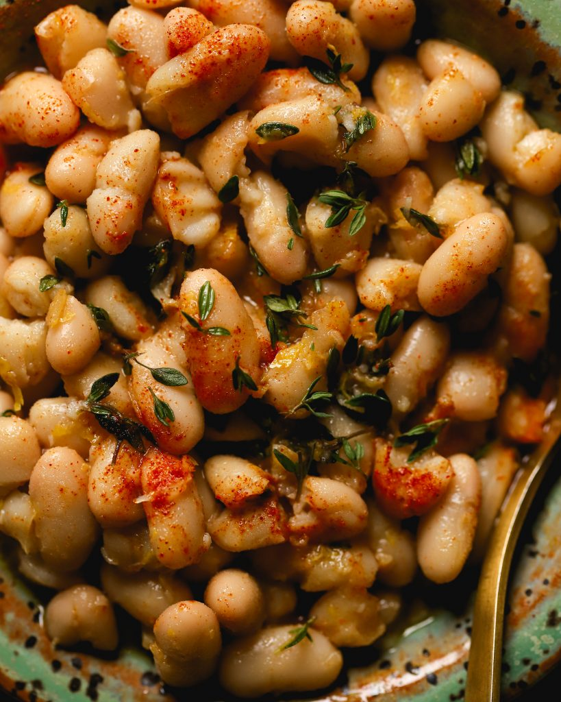 Lemon Thyme Marinated White Beans