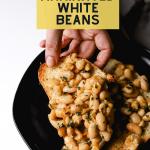 Lemon Thyme Marinated White Beans