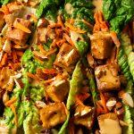 Tangy Tahini Tofu Lettuce Wraps