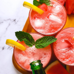 Sparkling Watermelon Mint Lemonade