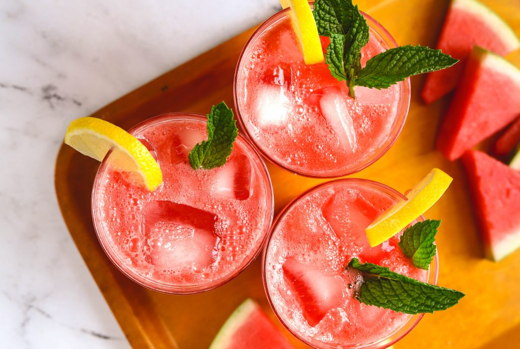 Sparkling Watermelon Mint Lemonade