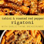 Tahini & Roasted Red Pepper Rigatoni