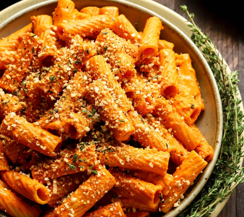 Tahini & Roasted Red Pepper Rigatoni