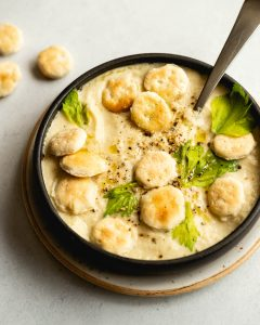 Creamy Roasted Cauliflower and Celery Soup